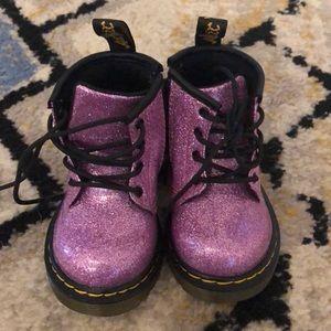 Dr. Martens purple glitter